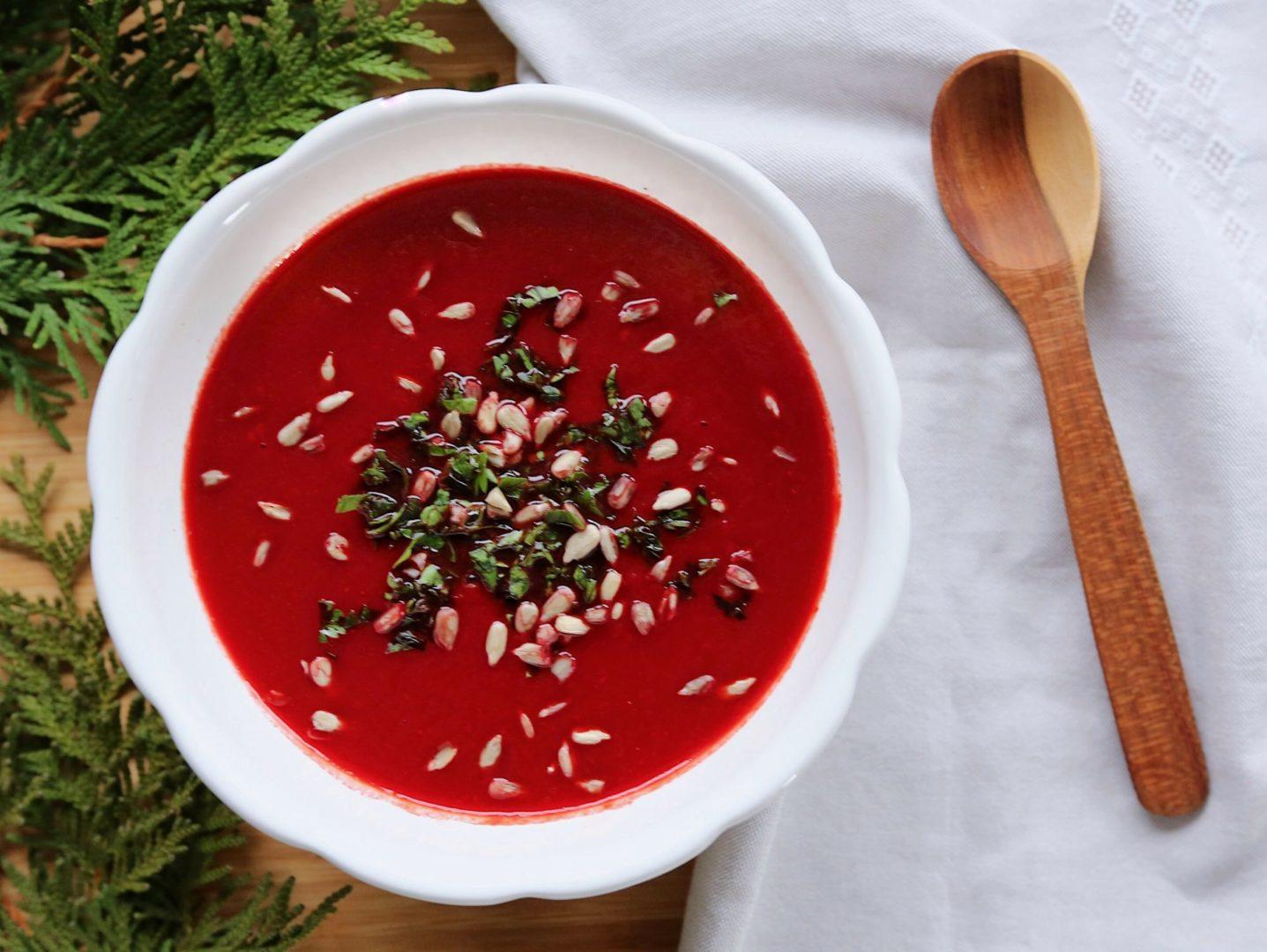 Krémová polievka z hokkaido a červenej repy
