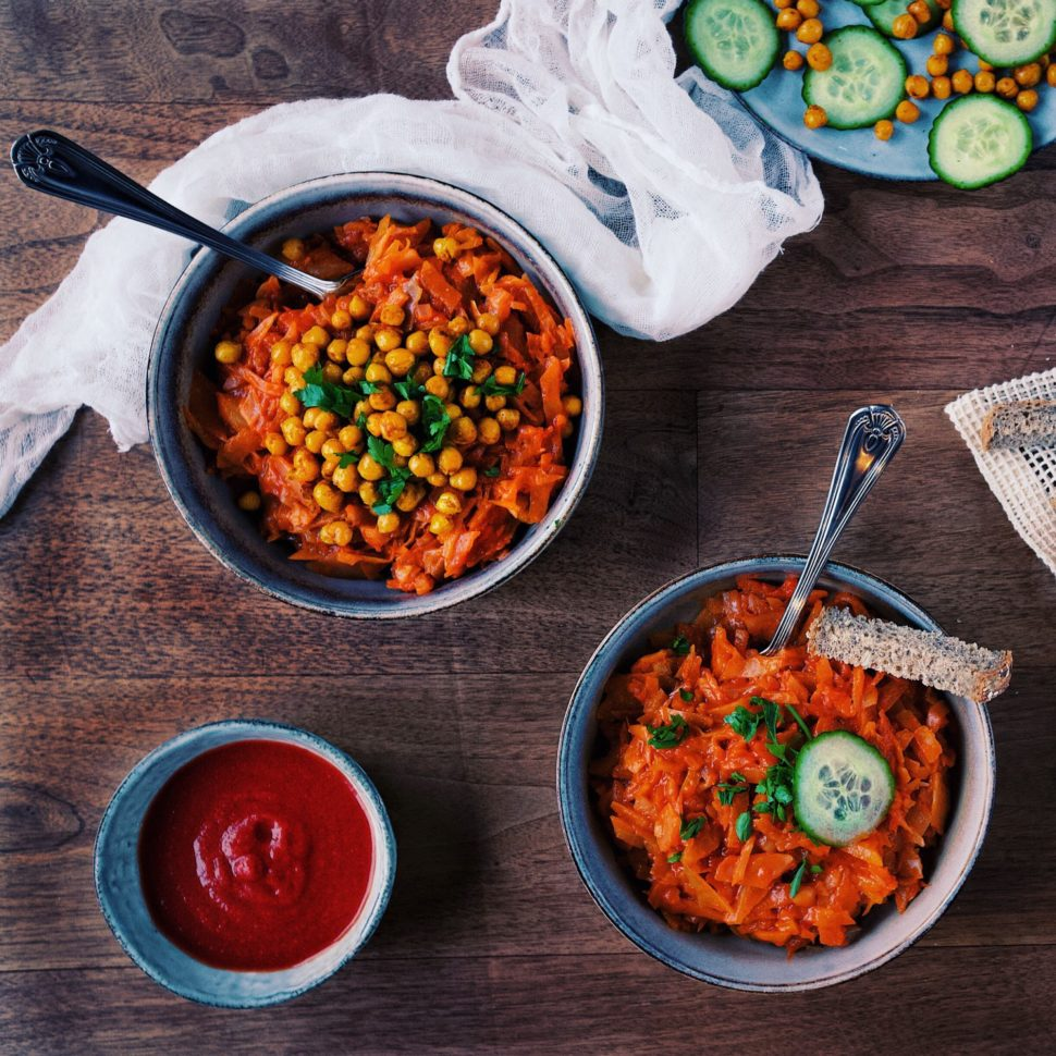 Výborná paradajková kapusta, vegan