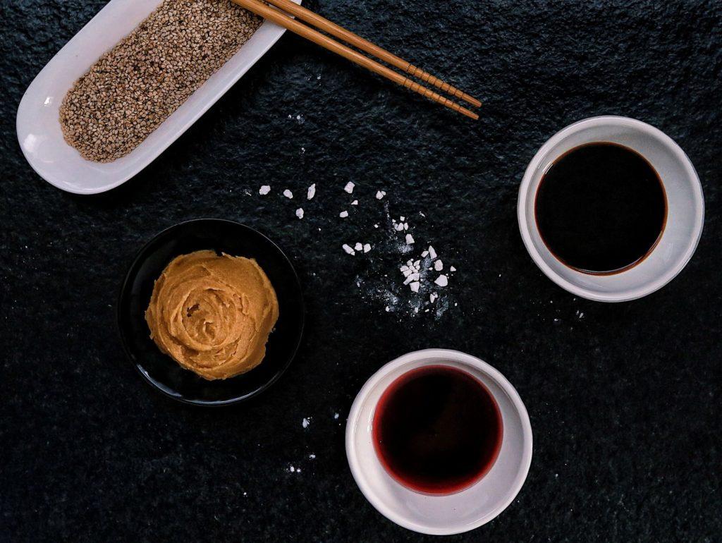 Miso pasta, kuzu, umeocot, Shoyu