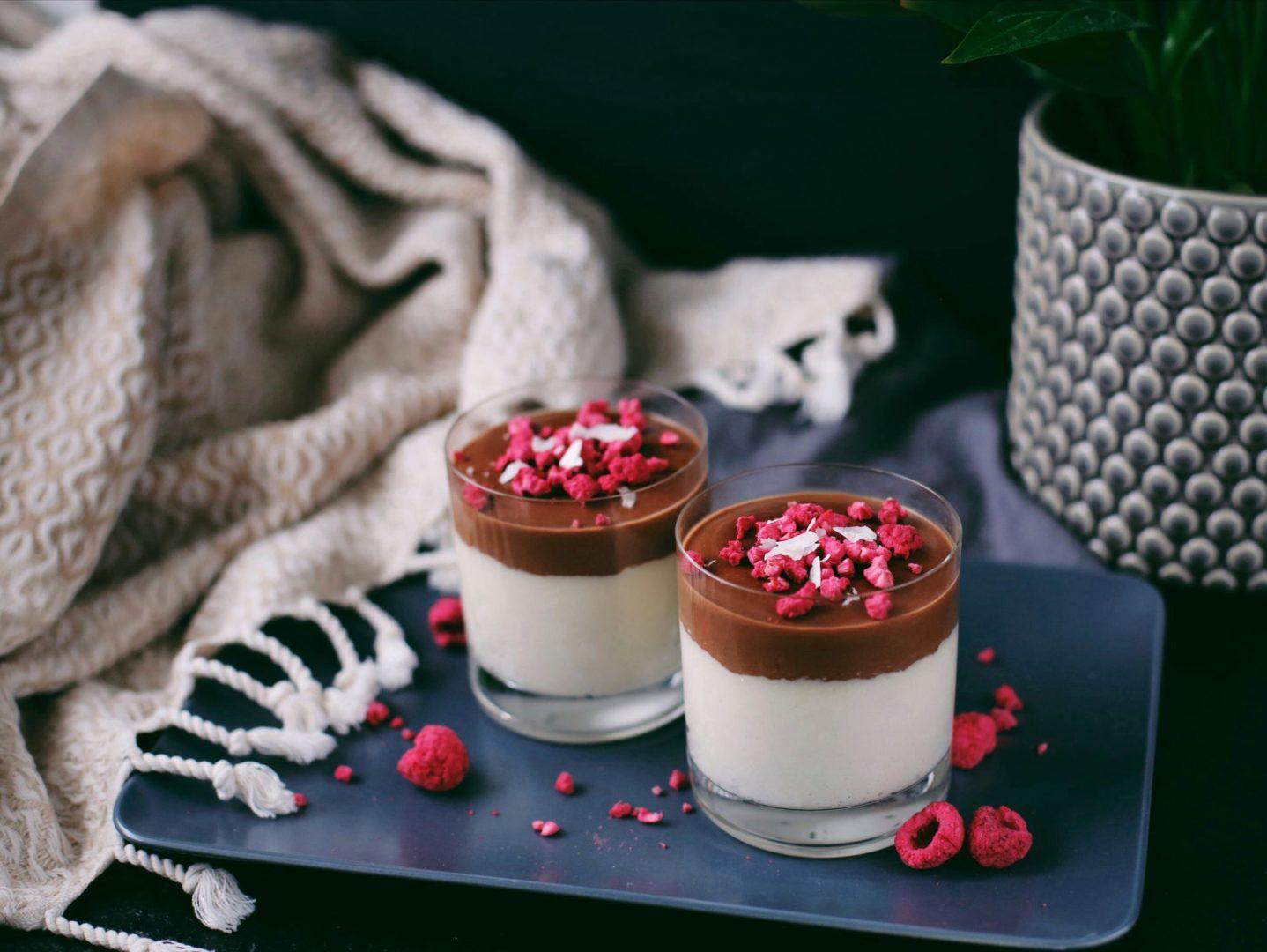 Mandľové poháre s čokoládovou ganache