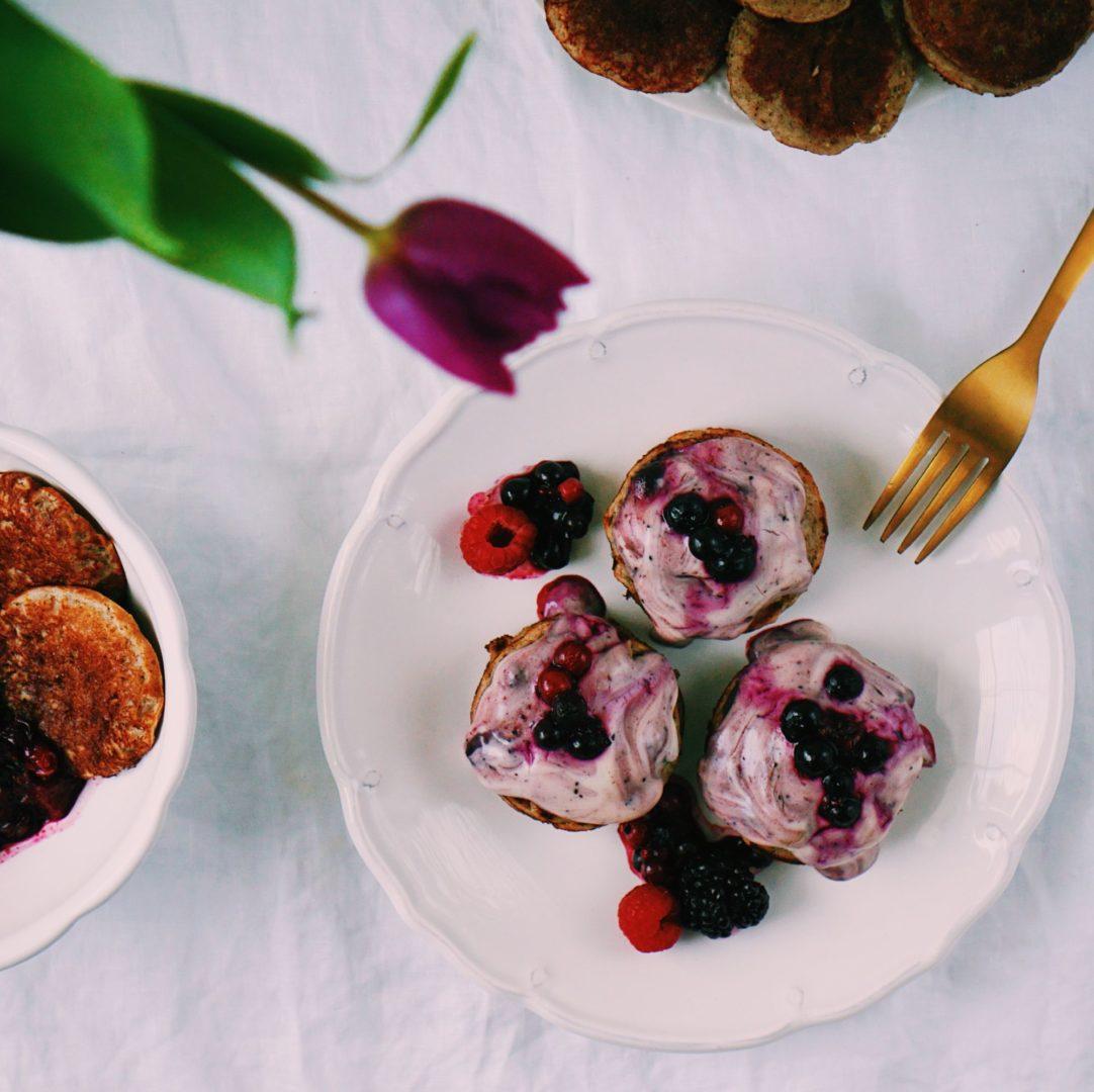 Nadýchané bezlepkové vegan ilievance smandľovým jogurtom