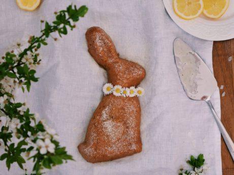 Citrónový zajačik bez mlieka, vajec a cukru