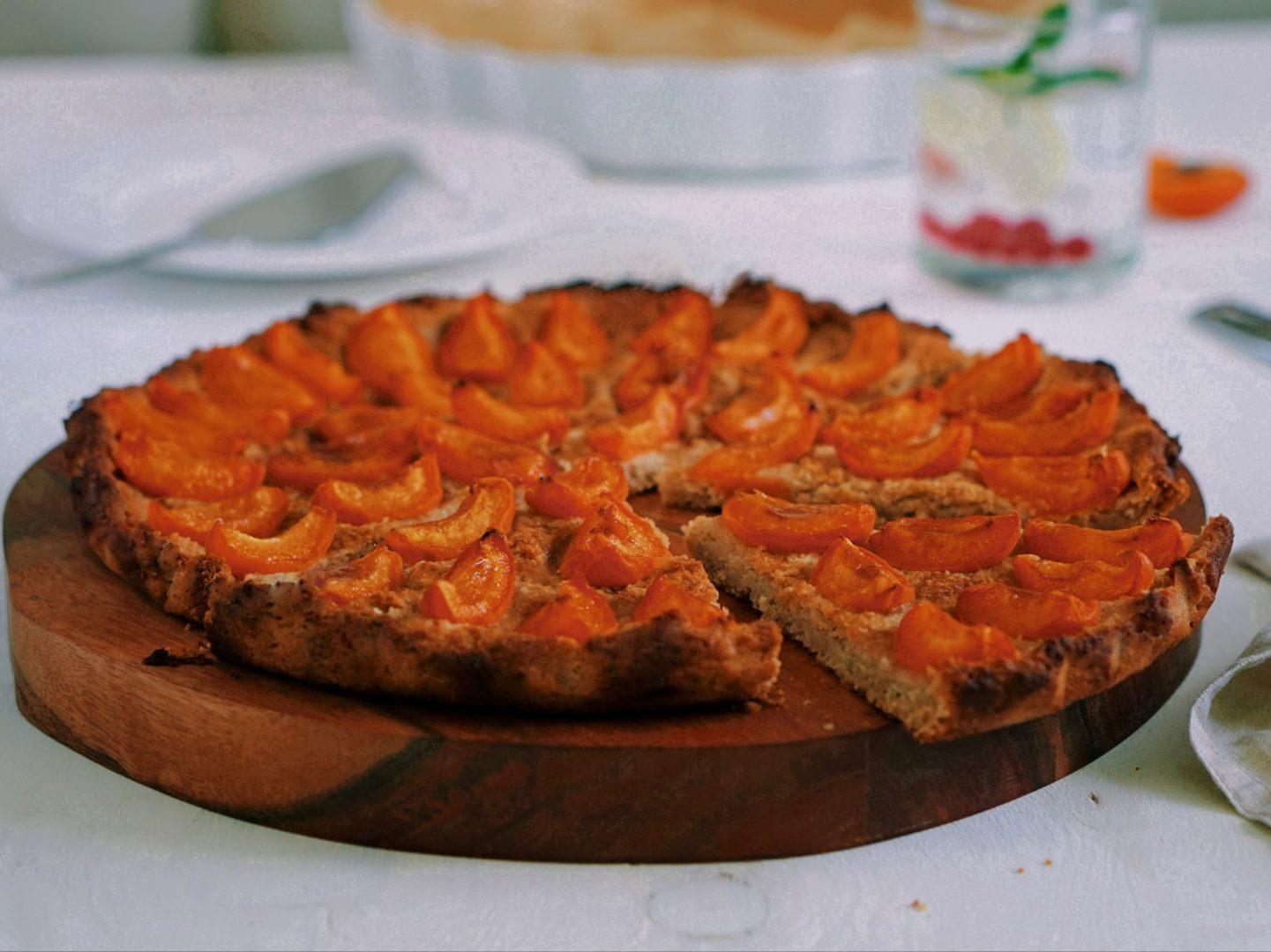 Marhuľový koláč bez lepku abieleho cukru