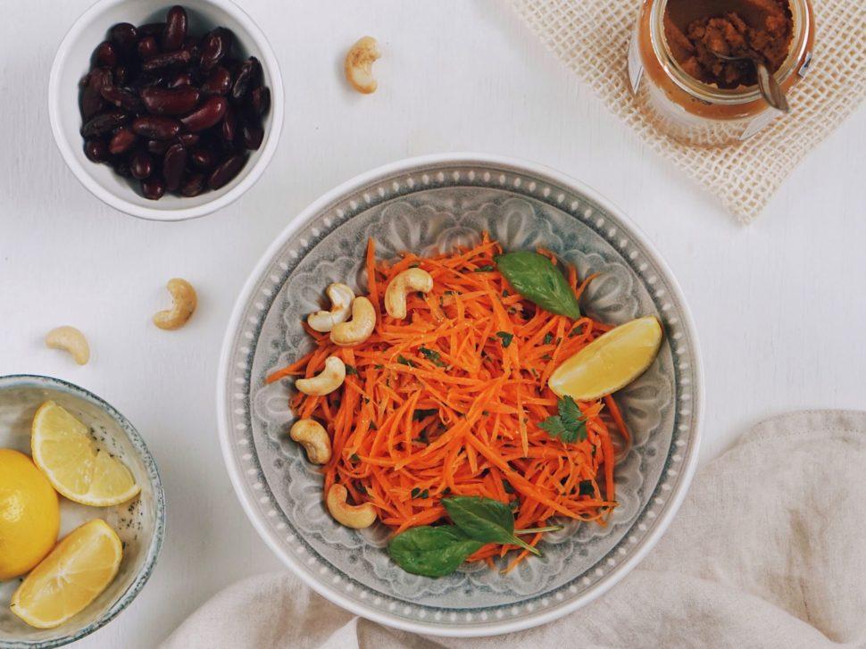 Letný mrkvový šalát