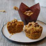 Tekvicové muffiny s orechami bez cukru , mlieka a vajec