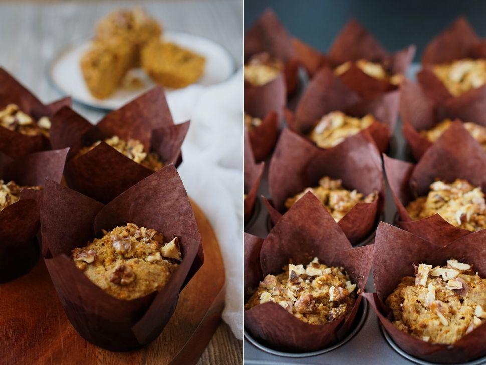 Vláčne muffiny bez cukru, mlieka avajec